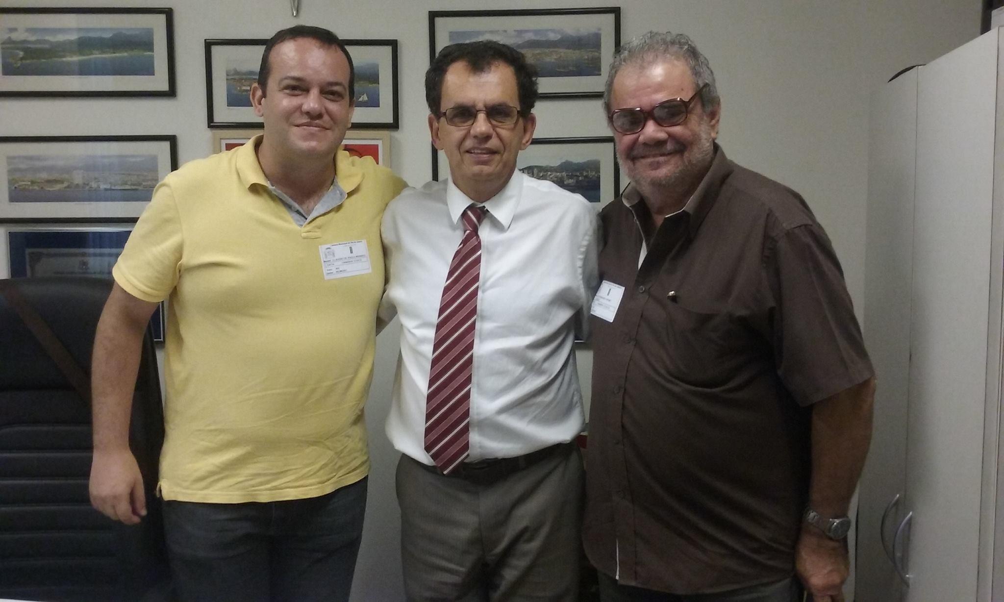 TR Claudio Manhães do Blog Radiologia RJ, Vereador Reimont (PT-RJ) do município do Rio e TR Luiz Thomé do STARERJ
