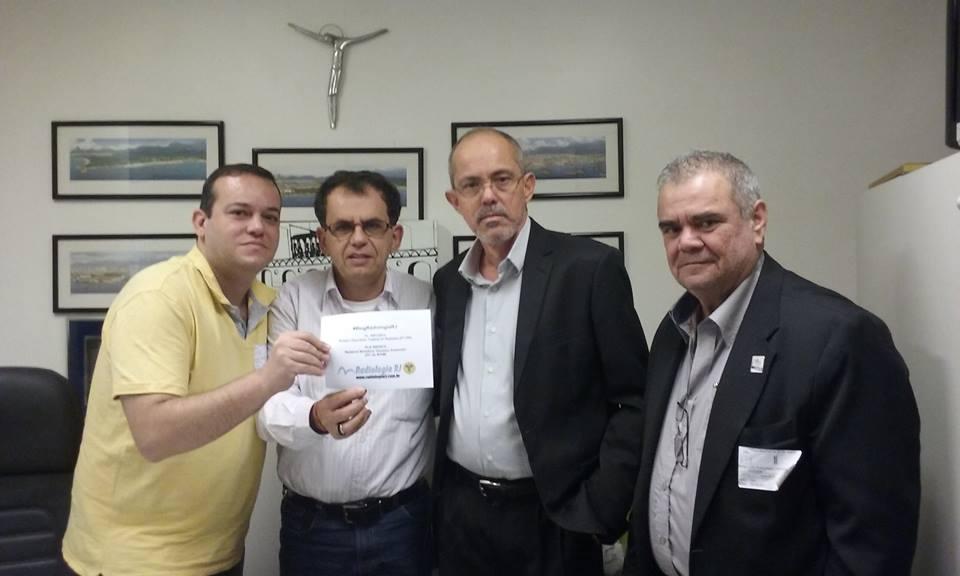 TR Claudio Manhães do Blog Radiologia RJ, Vereador Reimont (PT-RJ) do município do Rio, TR Arildo Rebelo e TR Luiz Thomé do STARERJ