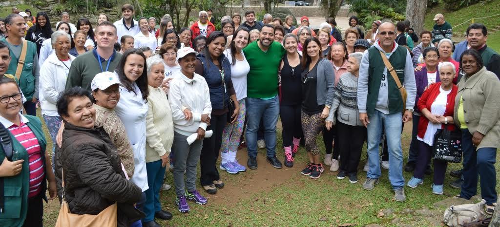 Programação pelo Dia do Idoso reúne público e profissionais da Saúde e da SMEL no Parque Nacional da Serra dos Órgãos