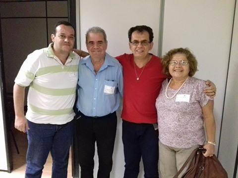 TR Claudio Manhães do Blog Radiologia RJ, TR Luiz Thomé do STARERJ, Vereador Reimont (PT-RJ) do município do Rio e Drª Ana do STARERJ